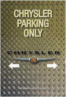 Blechschild Warning Seat parking only parkschild tin sign metallschild deko Reklame & Werbung für Sammler