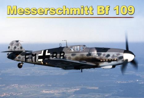 Messerschmitt BF 109 Flugzeug im Flug Blechschild 20x30 cm