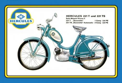 Hercules 221T 221TS Saxonette Mofa Moped scooter blechschild