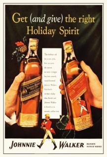 Johnnie walker blended scotch whisky blechschild