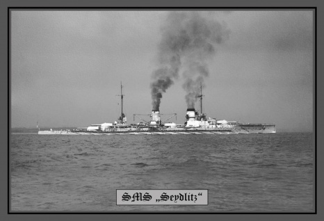 Retro: SMS Seydliz Kriegschiff Metallschild Wanddeko 20x30 cm tin sign