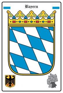 Bayern Wappen blechschild