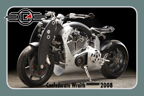 Confederate Wraith 2008 125PS motorrad, motor bike, motorcycle blechschild