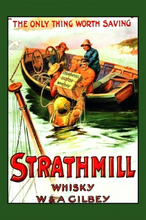 Strathmill whisky scotch reklame blechschild
