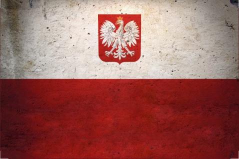 Blechschild Polen Nationalflagge Metallschild Wanddeko 20x30cm tin sign