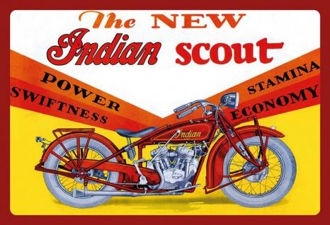 New Indian Scout motorrad reklame blechschild