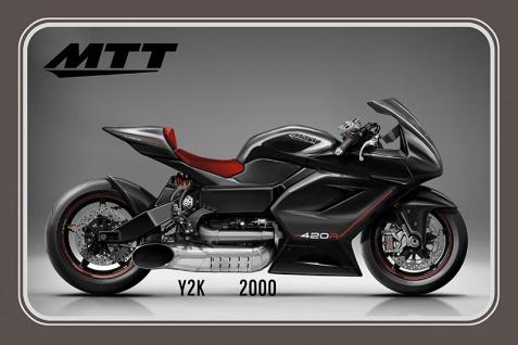 MTT Y2K 2000 motorrad, motor bike, motorcycle blechschild