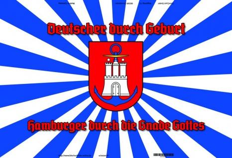 """"""" Deutsche durch geburt, Hamburger durch Gnade Gottes"""" Hamburg Wappen blechschild"""