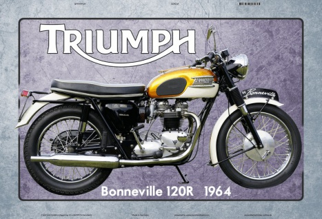 Triumph Bonneville 120R 1964 motorrad blechschild