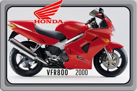 Honda VFR800 2000 motorrad, motor bike, motorcycle blechschild