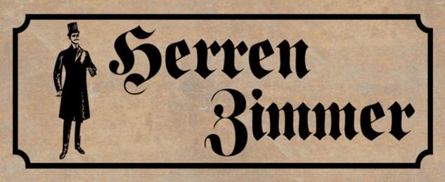 Blechschild Spruch Nostalgie Herren Zimmer Metallschild 27x10 cm Wanddeko tin sign