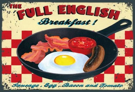 Full English Breakfast, Englisches frühstuck blechschild