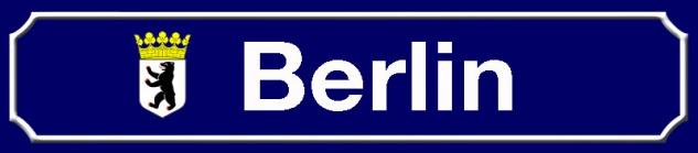 Berlin strassenschild stadt Bundesland mit Wappen blechschild 46x10cm