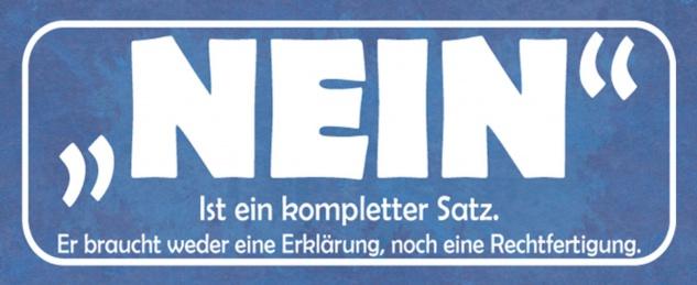 Blechschild Spruch Nein kompletter Satz Metallschild 27x10 cm Wanddeko tin sign