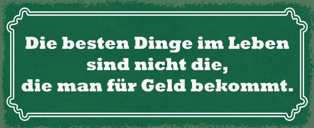 Blechschild Spruch Die besten Dinge im Leben Metallschild Wanddeko 27x10 cm tin sign