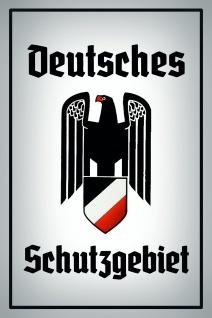 Deutsches Schutzgebiet Adler blechschild