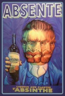 Absente - Absinthe Van Gogh Blechschild
