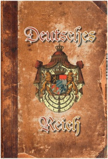 Deutsches Reich mit Wappen (Pergament-, Buchoptik) Blechschild 20x30