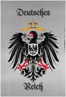 Deutsches Reich Wappen mit Adler, silber Blechschild 20x30