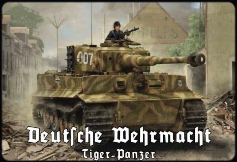 Militär, Retro: Deutsche Wehrmacht - Tiger Panzer 007 Metallschild 20x30 Deko tin sign