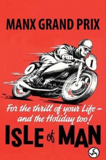 Retro: Manx Grand Prix - Isle of Man Metallschild Wanddeko 20x30 cm tin sign
