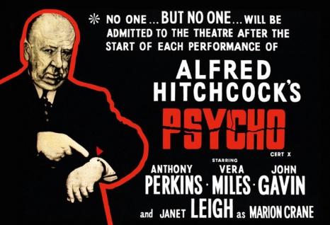 Psycho film plakat Hitchcock kult klassik blechschild