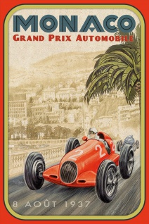 Schatzmix Blechschild Monaco Grand Prix 1937 Metallschild 20x30 cm Wanddeko tin sign