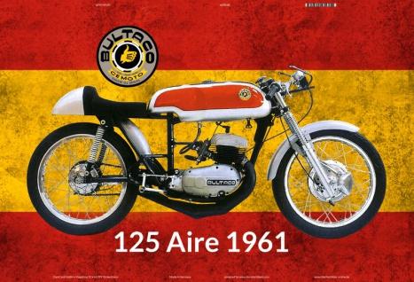 Bultaco 125 Aire 1961 Spanien motorrad blechschild