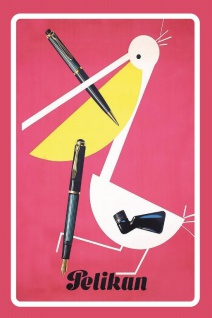 Pelikan tinte reklame mit stift blechschild