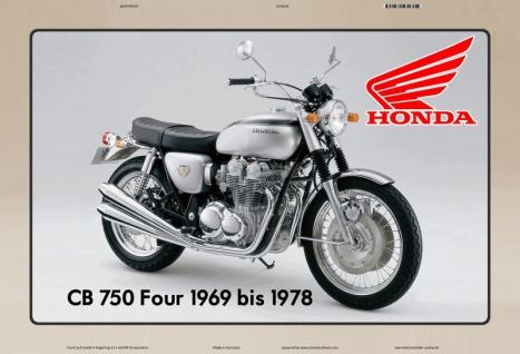 Honda CB 750 Four 1969-1978 motorrad blechschild
