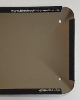 Blechschild Bier Augen sehen mehr Metallschild 27x10 cm Deko tin sign mit Kordel