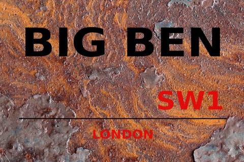 London Street Sign Big Ben London SW1 Blechshild 20x30