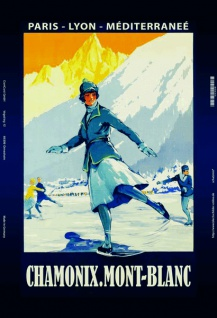 Chamonix Mont Blanc ski blechschild