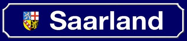 Saarland strassenschild Bundesland mit Wappen blechschild 46x10cm