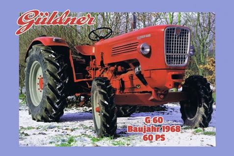 Güldner G60 60Ps 1968 tracktor trekker blechschild
