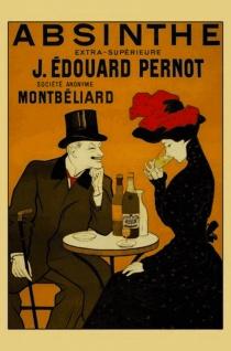 Nostalgie: Absinthe, J. Edouard Pernot, Montbéliard Blechschild 20x30 cm