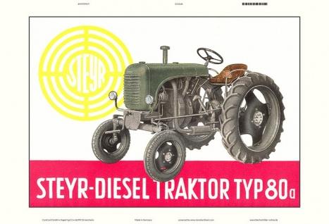 Steyr 80a diesel traktor Trekker Schlepper blechschild