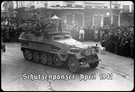 Blechschild Schützenpanzer 1941 (Parade) Metallschild Wanddeko 20x30 tin sign