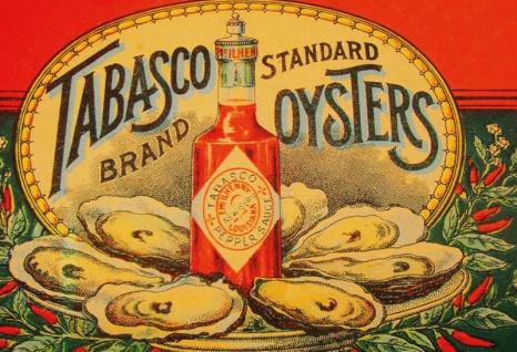 Tabasco Sauce und Oyster / Austern blechschild