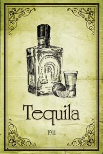 Schatzmix Blechschild Tequila 1911 Metallschild 20x30 cm Wanddeko tin sign