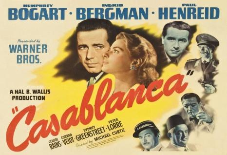 Blechschild Film Casablanca Bergman Bogart hell Metallschild Wanddeko 20x30 cm tin sign