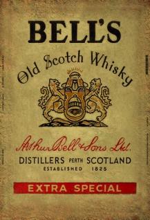 Bells Scotch whisky etikette blechschild