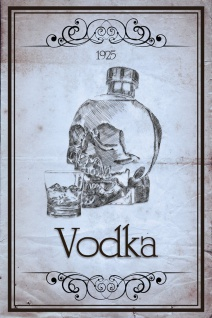 Schatzmix Blechschild Vodka 1925 Metallschild 20x30 cm Wanddeko tin sign