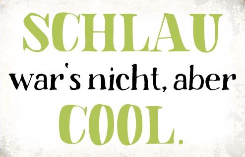 Blechschild Spruch Schlau war's nicht Metallschild Wanddeko 20x30 cm tin sign