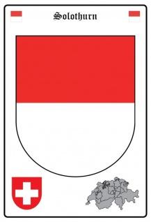 Blechschild Solothurn Wappen Metallschild Wanddeko 20x30 cm tin sign
