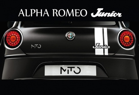Alpha Romeo junior MTO auto blechschild