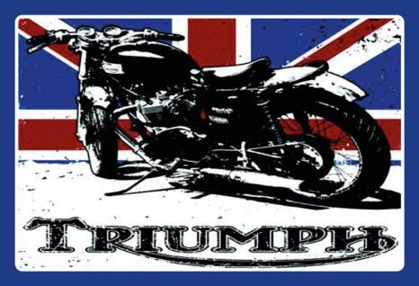 Triumph motorrad mit Englisches flagge