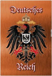 Deutsches Reich Wappen mit Adler, bronze, Blechschild 20x30