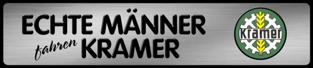Echte Männer fahren Kramer Parking Auto Car Blechschild 46x10 cm