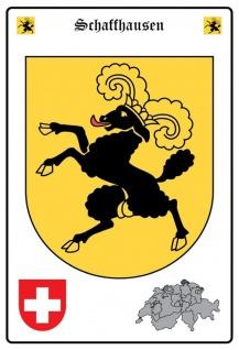 Blechschild Schaffhausen Wappen Metallschild Wanddeko 20x30 cm tin sign